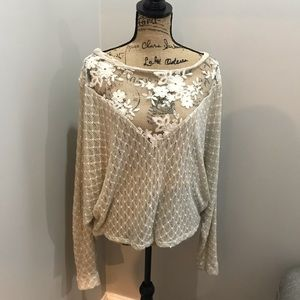 Tops - Cream and tan sweater